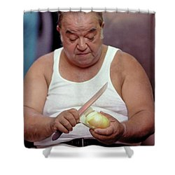 The Onion Man Shower Curtain