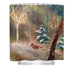 Shower Curtain featuring the painting The Onion Snow by Denise Tomasura