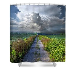 The Only Way In Shower Curtain by Phil Koch