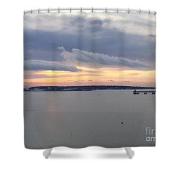 The Opalescent Sunrise Is Unfurled Shower Curtain by Patricia E Sundik