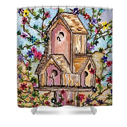 The Opening Of Spring Shower Curtain by Connie Valasco