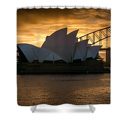 The Opera House Shower Curtain by Andrew Matwijec