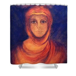 Shower Curtain featuring the painting The Oracle by Marina Petro