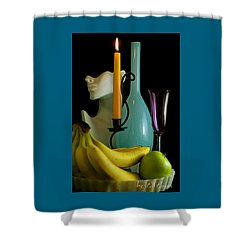 Shower Curtain featuring the photograph The Orange Candle by Elf Evans