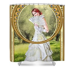 The Orchard Shower Curtain by John Edwards