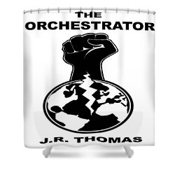 Shower Curtain featuring the digital art The Orchestrator Cover by Jayvon Thomas