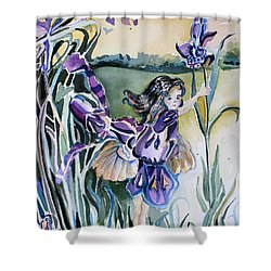 Shower Curtain featuring the painting The Orchid Fairy by Mindy Newman
