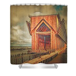 The Ore Is Gone Redux Shower Curtain