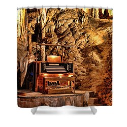 The Organ In Luray Caverns Shower Curtain by Paul Ward