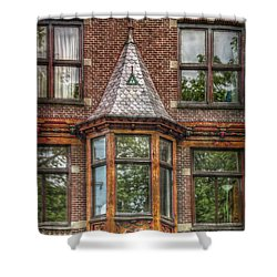 Shower Curtain featuring the photograph The Oriel by Hanny Heim