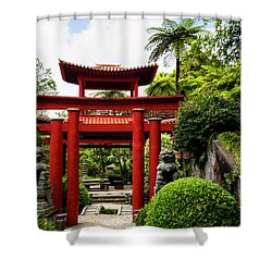 The Oriental Gate To Happiness Shower Curtain