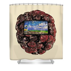 The Blackberry Concept Shower Curtain by ISAW Gallery