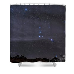 The Orion Constellation Rises Shower Curtain by John Davis