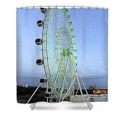 Shower Curtain featuring the photograph The Orlando Eye 000 by Chris Mercer
