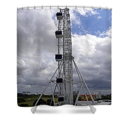 Shower Curtain featuring the photograph The Orlando Eye 001 by Chris Mercer