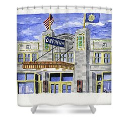 The Orpheum Shower Curtain by Rodger Ellingson