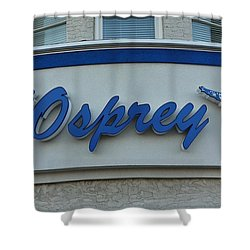 The Osprey Marqee Shower Curtain