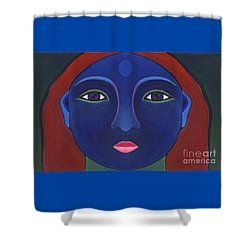 The Other Side - Full Face 1 Shower Curtain by Helena Tiainen