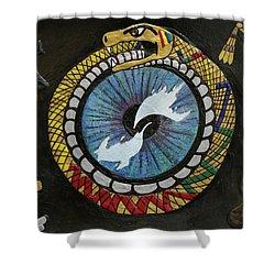 The Ouroboros Shower Curtain