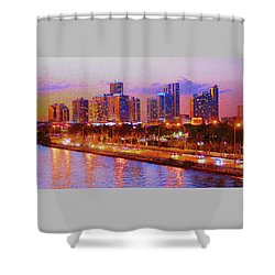 The Outer Drive Shower Curtain
