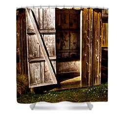 The Outhouse At Fort Nisqually Shower Curtain by David Patterson