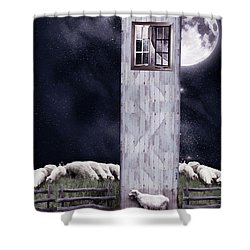 The Outsider Shower Curtain by Mihaela Pater