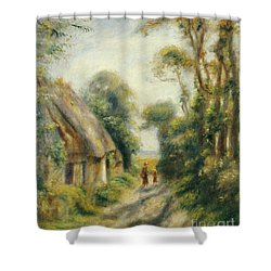 The Outskirts Of Berneval  Shower Curtain by Pierre Auguste Renoir