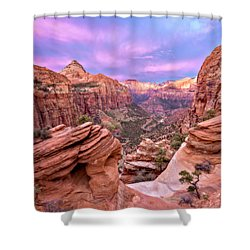 Shower Curtain featuring the photograph The Overlook by Eduard Moldoveanu