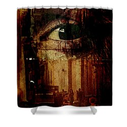 The Overseer Shower Curtain by Michael Cinnamond