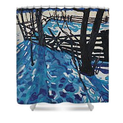 The Paddock Shower Curtain by Phil Chadwick