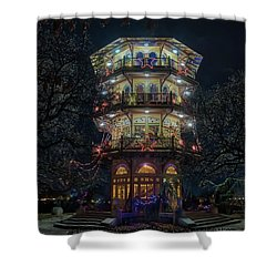 The Pagoda At Christmas Shower Curtain
