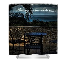 Pain That Last Forever Shower Curtain by Pamela Blizzard
