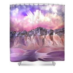 The Painted Sand Rocks Shower Curtain
