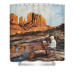The Painter Woods Shower Curtain by Alan Lakin