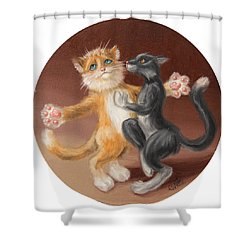 The Painting About Love  Shower Curtain