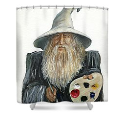The Painting Wizard Shower Curtain