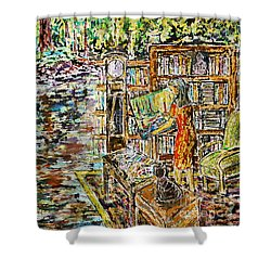The Paintress Shower Curtain