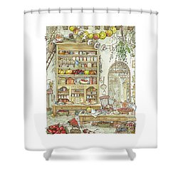 The Palace Kitchen Shower Curtain