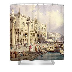 The Palaces Of Venice Shower Curtain by Samuel Prout