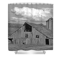 The Palouse Breaks Barn Shower Curtain