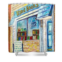 The Paperbacks Plus Book Store St Paul Minnesota Shower Curtain