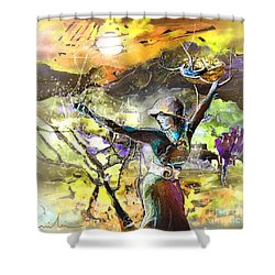 The Parable Of The Sower Shower Curtain by Miki De Goodaboom