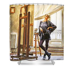 The Paris Studio Shower Curtain by Andy Lloyd