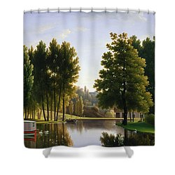 The Park At Mortefontaine Shower Curtain by Jean Bidauld