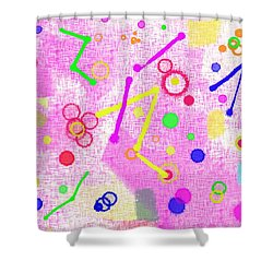 Shower Curtain featuring the digital art The Party Is Here by Silvia Ganora