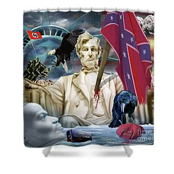 The Party Of Lincoln Days At An End Shower Curtain