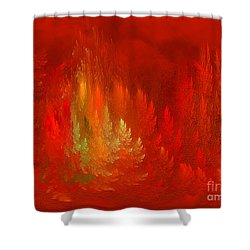 Shower Curtain featuring the digital art The Passion  Forest - Fantasy Art By Giada Rossi by Giada Rossi