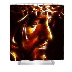 The Passion Of Christ Shower Curtain by Pamela Johnson