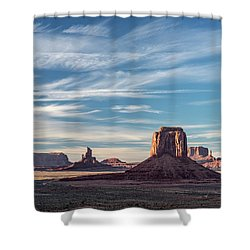 Shower Curtain featuring the photograph The Past by Jon Glaser