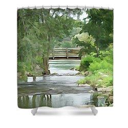 The Pasture's Bridge Shower Curtain